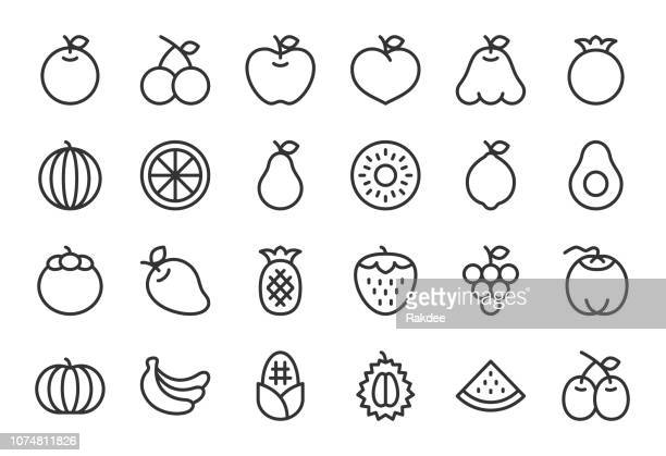 Fruit Icon - Light Line Series