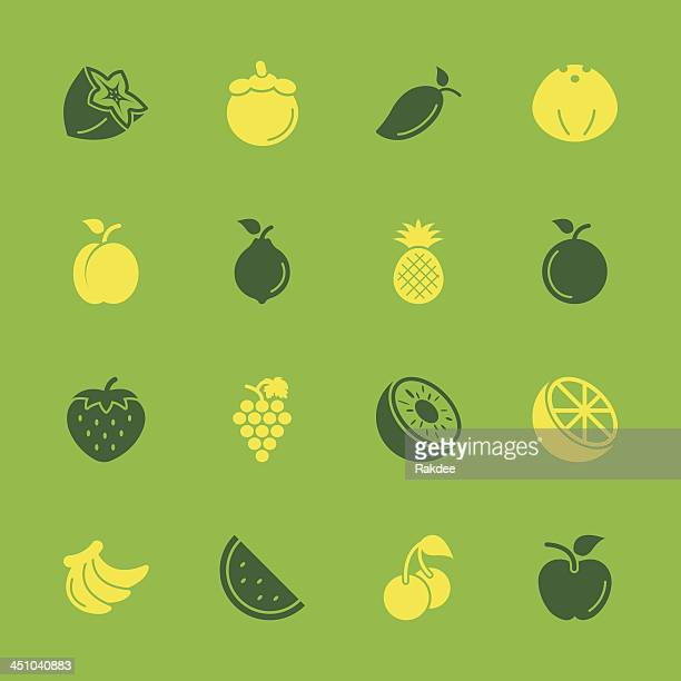fruit icons - color series | eps10 - mango fruit stock illustrations, clip art, cartoons, & icons