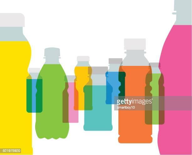 fruit juice bottles - juice drink stock illustrations, clip art, cartoons, & icons