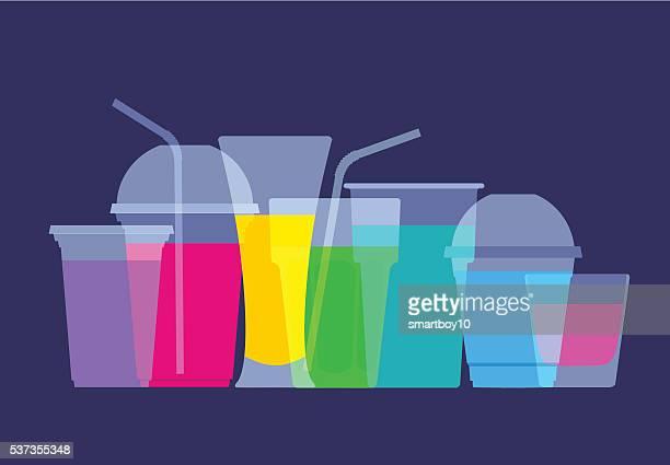 fruit juice drinks - ascorbic acid stock illustrations