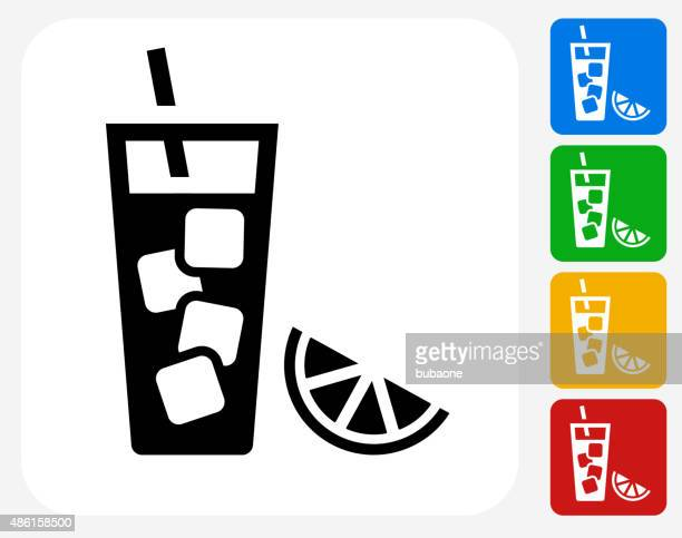 fruit juice icon flat graphic design - juice drink stock illustrations, clip art, cartoons, & icons