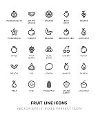Fruit Line Icons