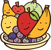 Fruit sat in a bowl