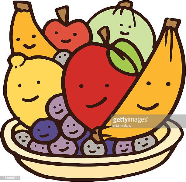 World's Best Fruit Bowl Stock Illustrations - Getty Images  Cute