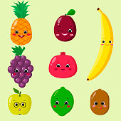 Fruit Sticker Collection.