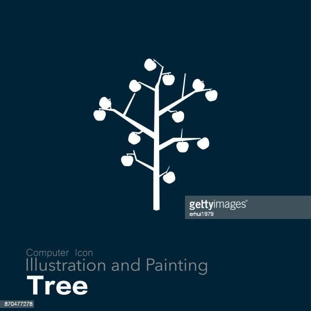 obstbaum - apple logo stock-grafiken, -clipart, -cartoons und -symbole