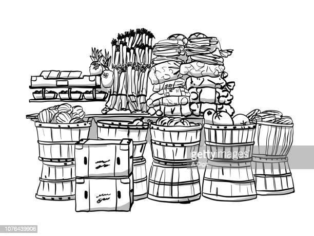 fruitmarket - leek stock illustrations, clip art, cartoons, & icons