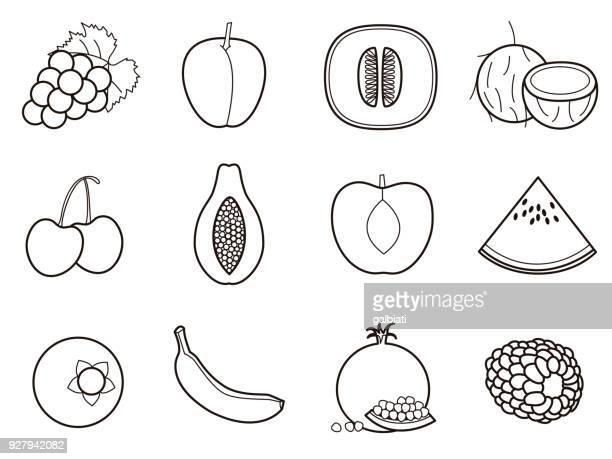 Fruits 2 icon set