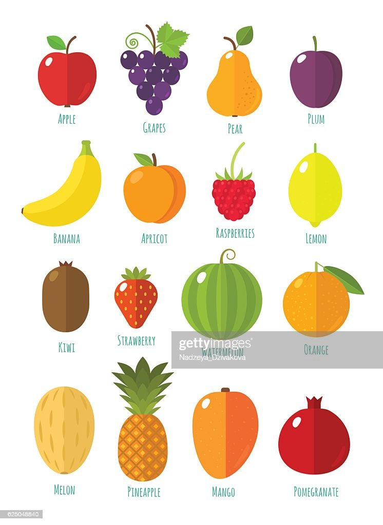 Fruits and berries collection