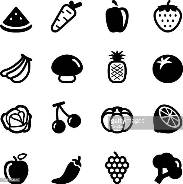Fruits and Vegetables icons | Set 1