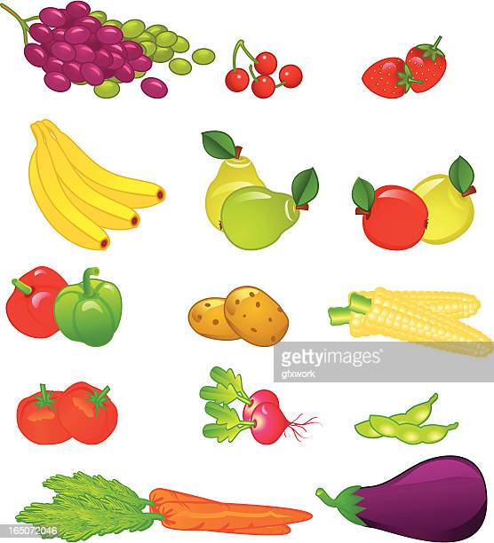 Fruits and vegetables .
