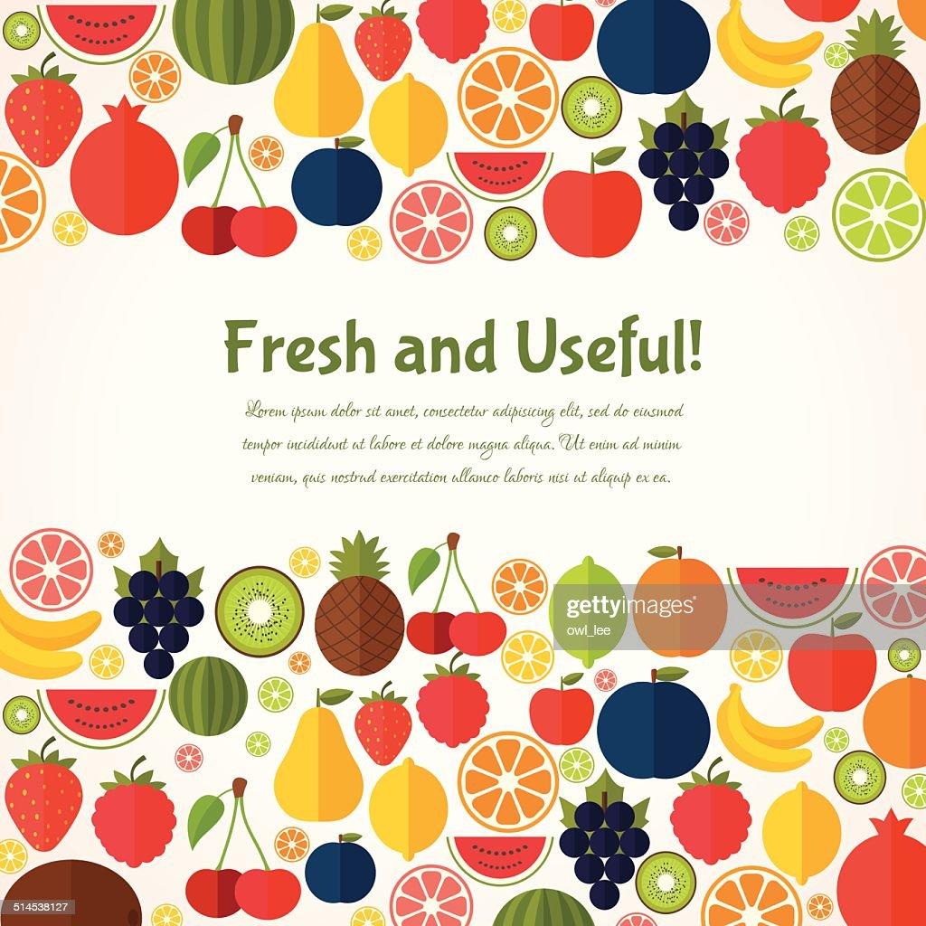 Fruits  background.