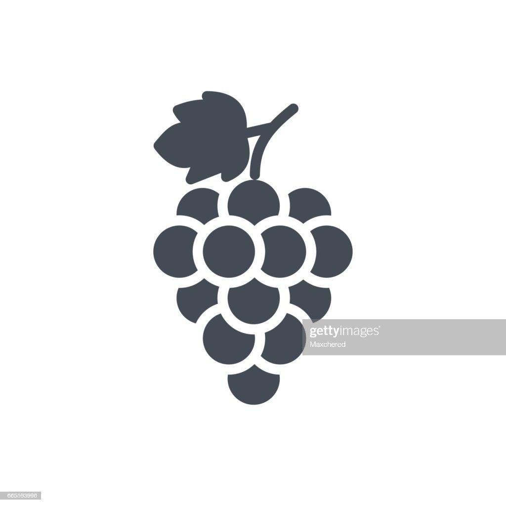 Fruits Food Silhouette Icon Grape