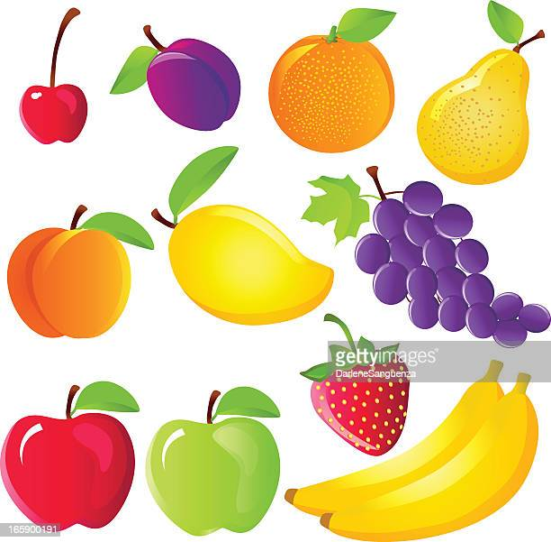 fruits icon - mango fruit stock illustrations, clip art, cartoons, & icons
