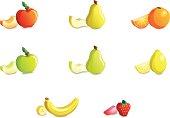 Fruits: isometric icon set