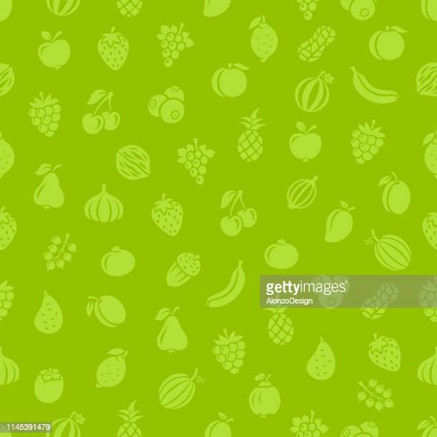 fruits. seamless pattern - menu background stock illustrations