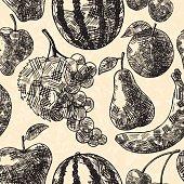 Fruits seamless pattern