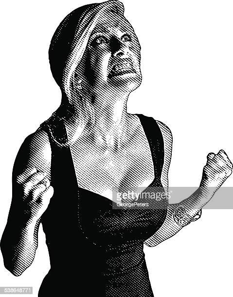 frustrated woman screaming - gasping stock illustrations, clip art, cartoons, & icons