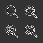 Frying pans icons