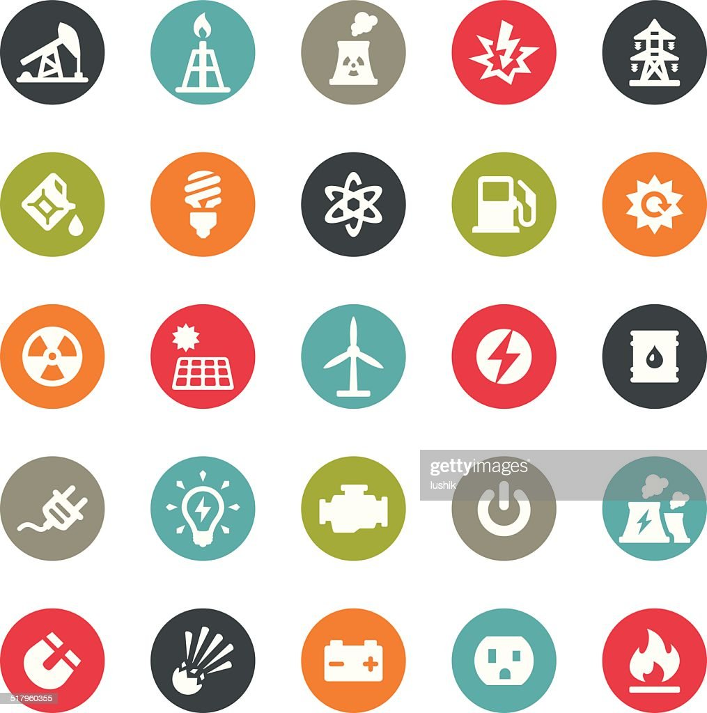 Fuel and Power Generation icons / Ringico series