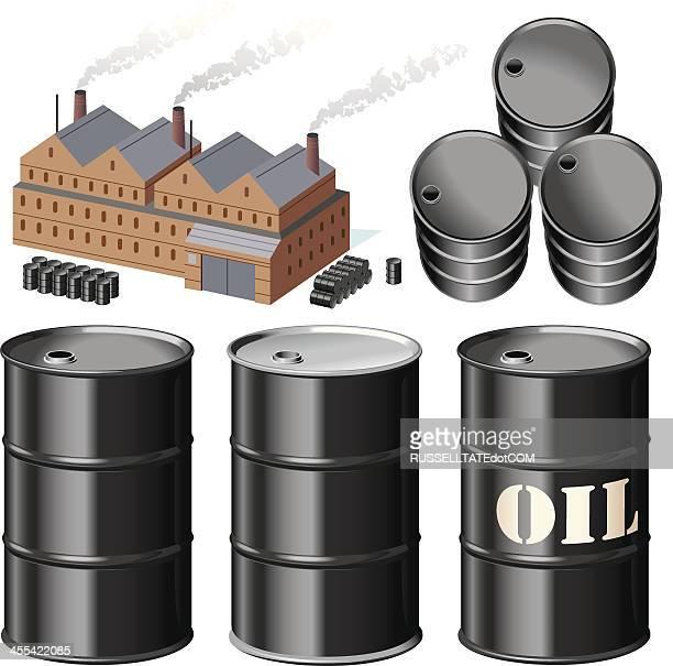 fuel dump - oil drum stock illustrations, clip art, cartoons, & icons