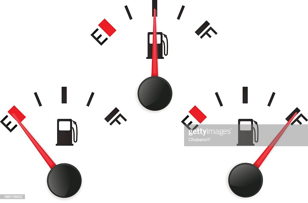 Fuel gauge. Empty and full