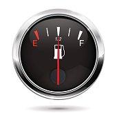 Fuel gauge. Half tank