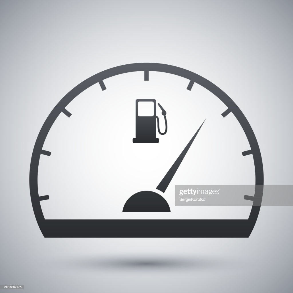 Fuel Gauge Icon Vector Stock Illustration - Getty Images