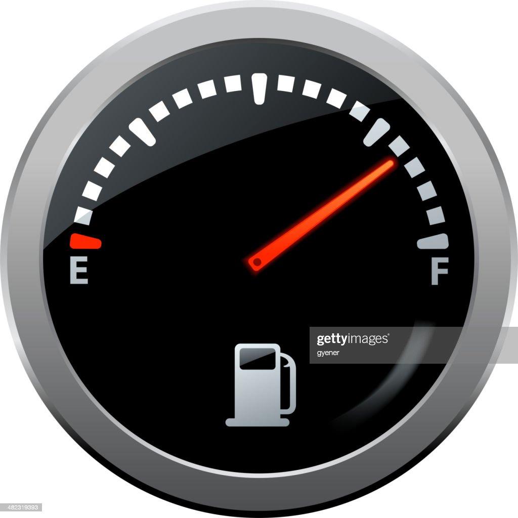 Fuel Gauge Symbol stock illustration - Getty Images