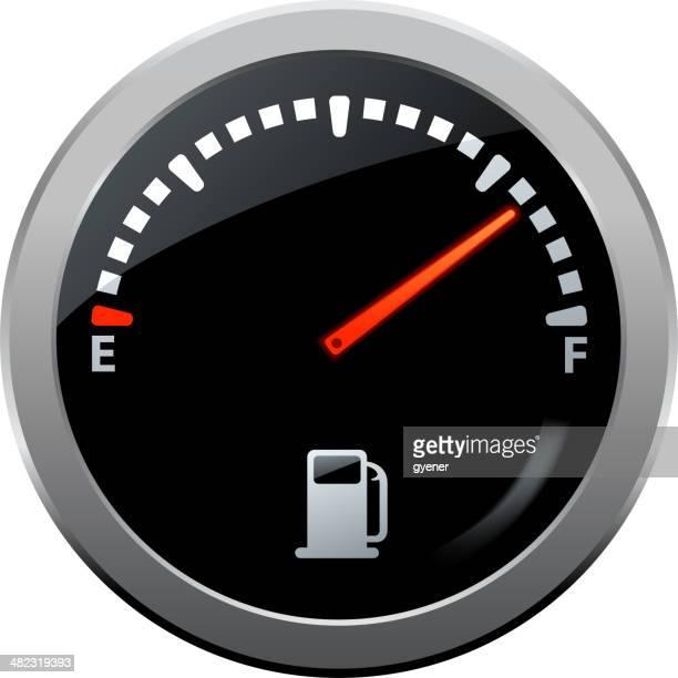 fuel gauge symbol - odometer stock illustrations, clip art, cartoons, & icons