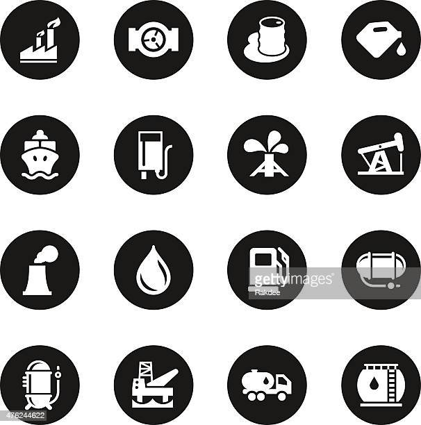 fuel industry icons - black circle series - air valve stock illustrations, clip art, cartoons, & icons