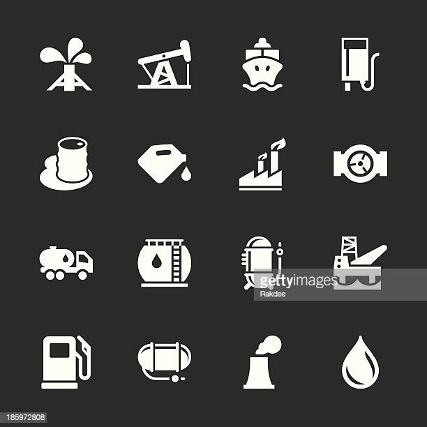 fuel industry icons - white series - air valve stock illustrations, clip art, cartoons, & icons