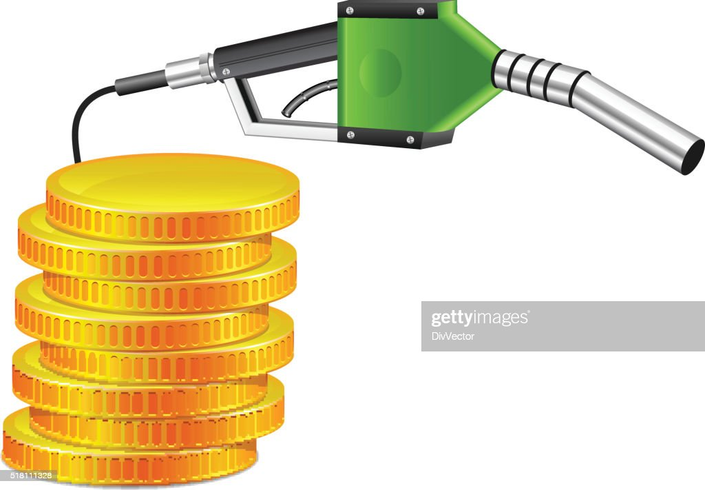 Fuel nozzle with gold coin