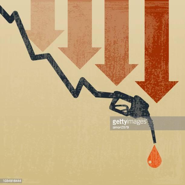 illustrations, cliparts, dessins animés et icônes de contexte de baisse de prix carburant - fuel pump