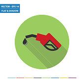 Fuel pump flat icon