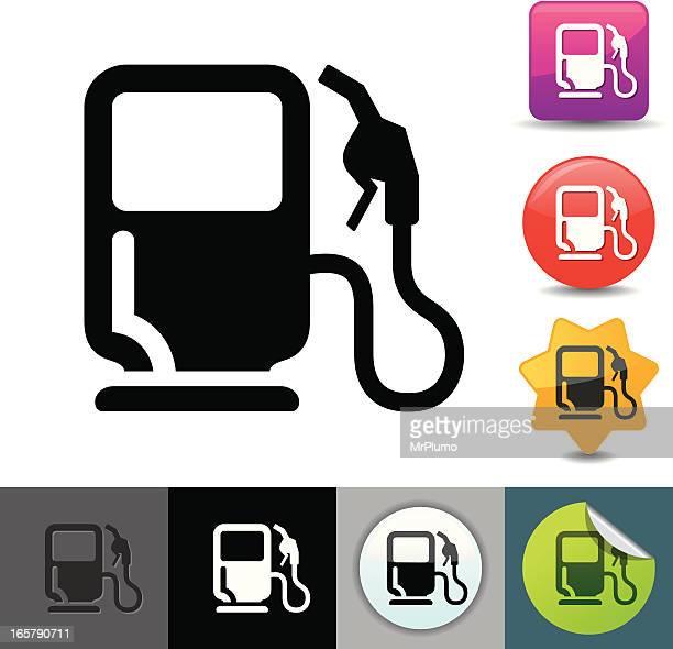 illustrations, cliparts, dessins animés et icônes de pompe à essence icône/solicosi series - fuel pump