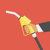 Fuel pump in hand.