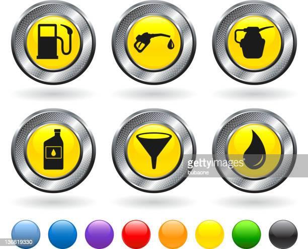 illustrations, cliparts, dessins animés et icônes de carburant ensemble d'icônes vectorielles libres de droits - fuel pump