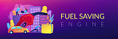 Fuel saving and gas mileage banner template.