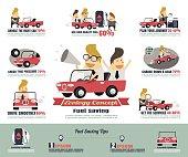 Fuel saving infographics