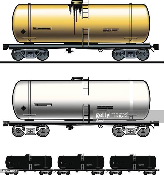 fuel tank-car - oil tanker stock illustrations, clip art, cartoons, & icons