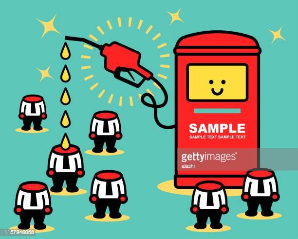 illustrations, cliparts, dessins animés et icônes de alimentez les hommes d'affaires sans tête - fuel pump