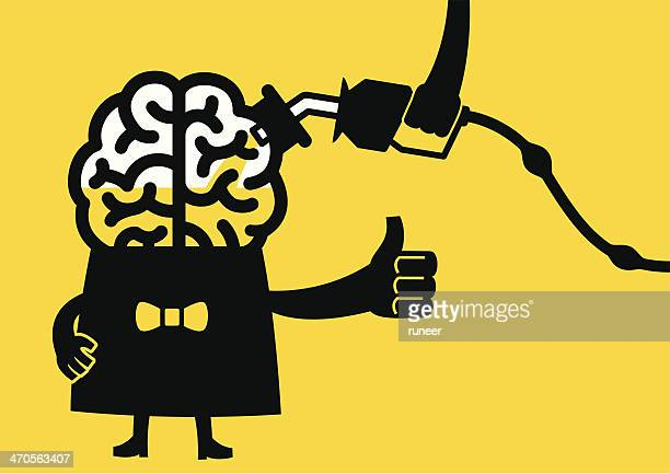 Fuel Up The Brain | Yellow Business Concept