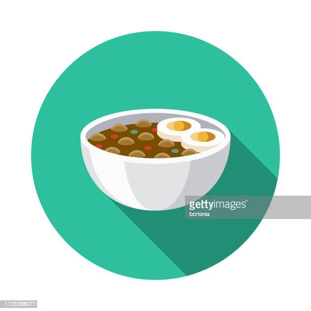 ful medames egypt icon - broad bean stock illustrations, clip art, cartoons, & icons