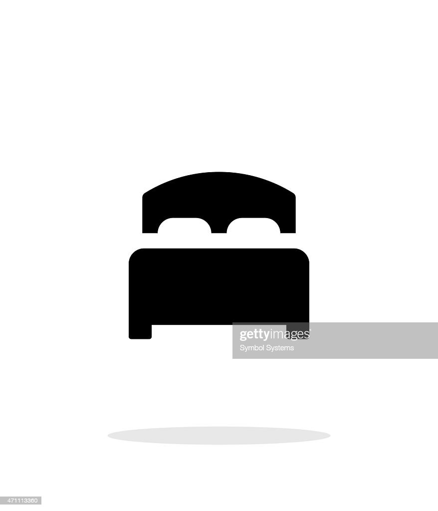 Full bed simple icon on white background