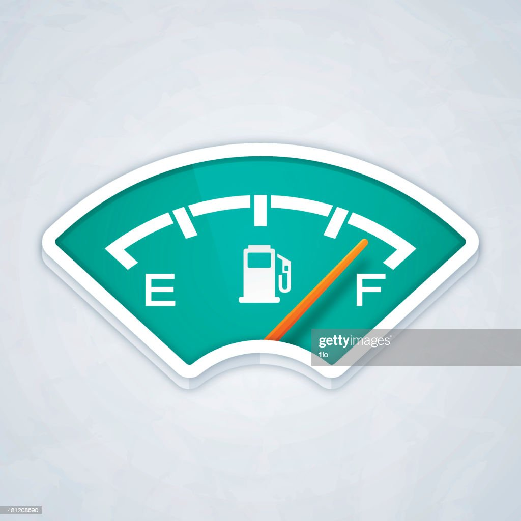 Full Fuel Gauge : stock illustration