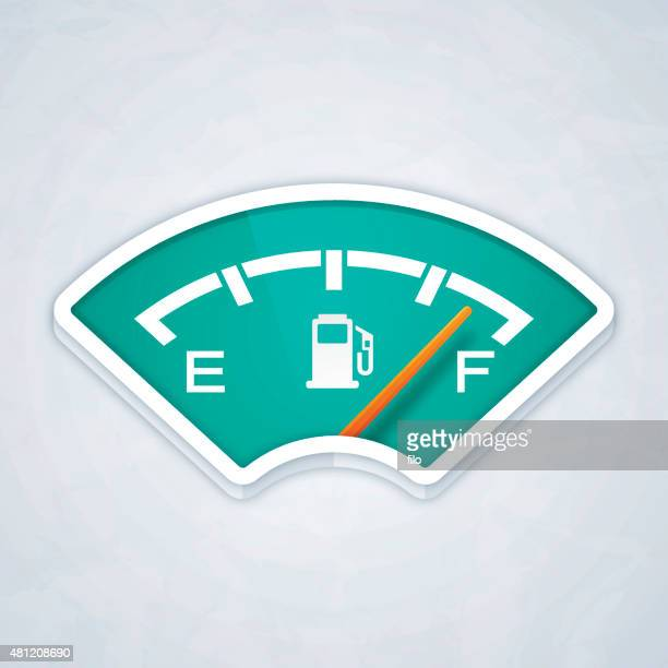 full fuel gauge - fuel station stock illustrations, clip art, cartoons, & icons