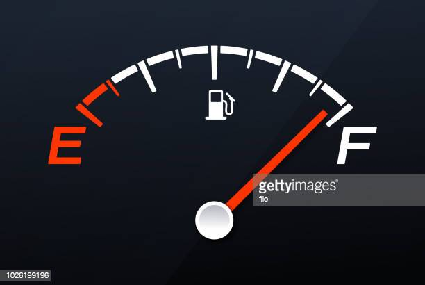 full gas tank gauge - full stock illustrations