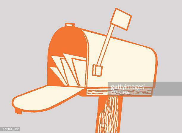 illustrations, cliparts, dessins animés et icônes de une boîte aux lettres - facteur