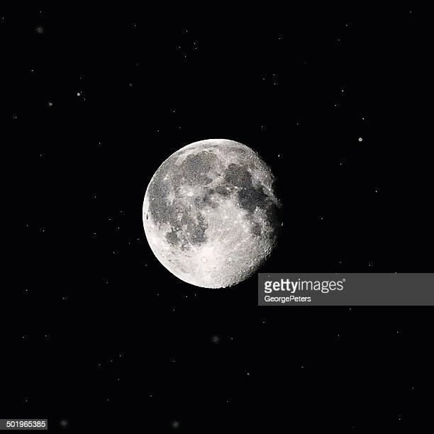 full moon and stars - moon stock illustrations